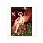 Angel & Golden Retrieve Square Sticker 3