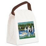 Sailboats / Gr Dane (h) Canvas Lunch Bag
