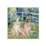 Bridge / Great Pyrenees (2) Square Sticker 3