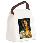 Fairies / Gr Pyrenees Canvas Lunch Bag
