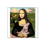 Mona Lisa / Greyhound #1 Square Sticker 3