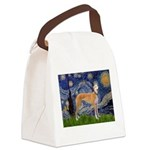 Starry / Greyhound (f) Canvas Lunch Bag