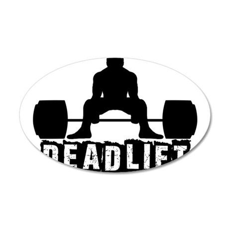Deadlift Black 20x12 Oval Wall Decal