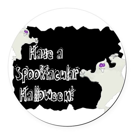ghosts2a.png Round Car Magnet