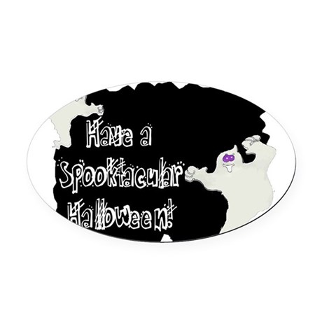 ghosts2a.png Oval Car Magnet