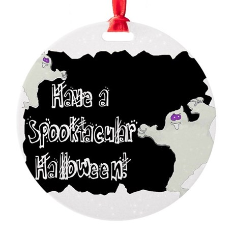 ghosts2a.png Round Ornament