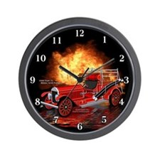 1920 Type 75 Pumper Fire Truck Wall Clock