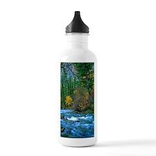 Mountain river in fall Water Bottle