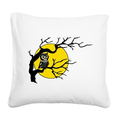 Owlmoon3.png Square Canvas Pillow