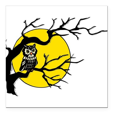 "Owlmoon3.png Square Car Magnet 3"" x 3"""