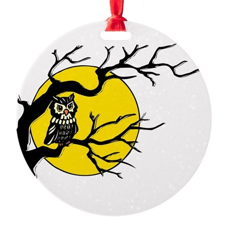 Owlmoon3.png Round Ornament