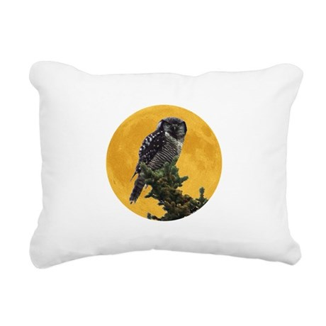 owlmoon.png Rectangular Canvas Pillow