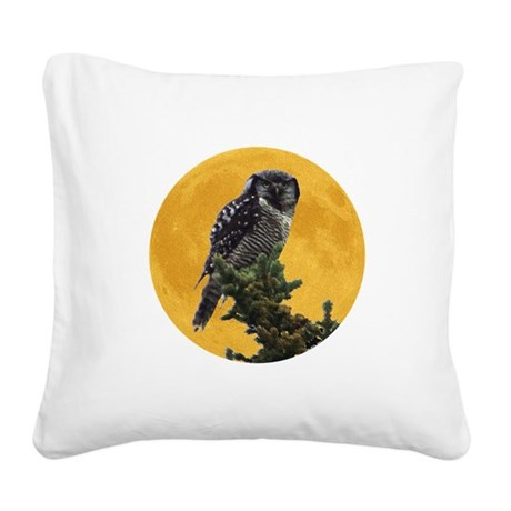 owlmoon.png Square Canvas Pillow