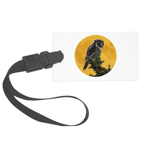 owlmoon.png Large Luggage Tag