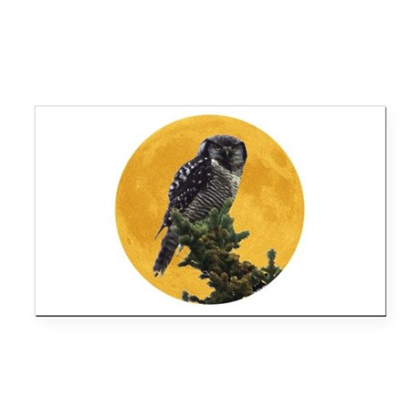 owlmoon.png Rectangle Car Magnet