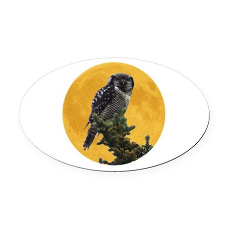 owlmoon.png Oval Car Magnet