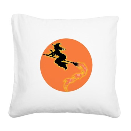 witch3.png Square Canvas Pillow