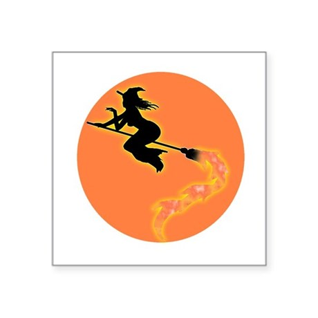"witch3.png Square Sticker 3"" x 3"""