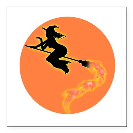 "witch3.png Square Car Magnet 3"" x 3"""