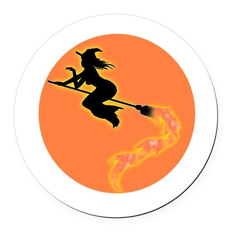 witch3.png Round Car Magnet