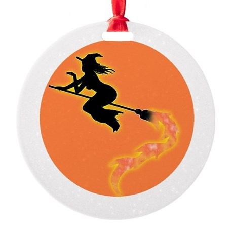 witch3.png Round Ornament