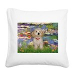 Lilies / Havanese Square Canvas Pillow