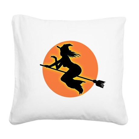 witch.png Square Canvas Pillow