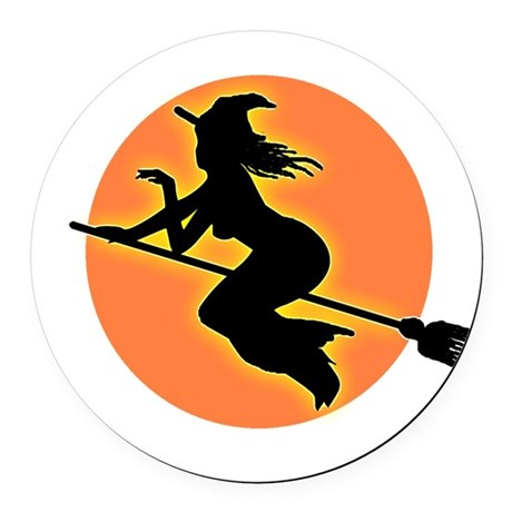 witch.png Round Car Magnet