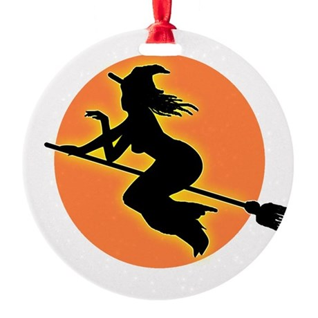 witch.png Round Ornament