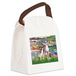 Lilies2/Italian Greyhound Canvas Lunch Bag