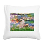 Lilies / Ital Greyhound Square Canvas Pillow