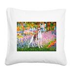 Garden / Ital Greyhound Square Canvas Pillow