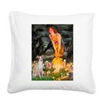 Midsummer's / Ital Greyhound Square Canvas Pillow