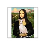 Mona Lisa / Ital Greyhound Square Sticker 3
