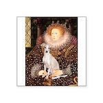 Queen / Italian Greyhound Square Sticker 3