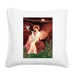 Seated Angel / Ital Greyhound Square Canvas Pillow