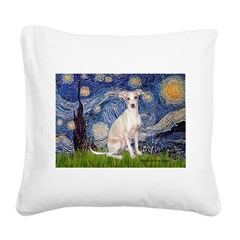 Starry Night / Ital Greyhound Square Canvas Pillow