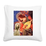 Mandolin Angel /Italian Spino Square Canvas Pillow