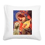 Mandolin Angel /Italian Spino Square Canvas Pillow