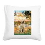 Garden Fiorito/ Spinone Square Canvas Pillow