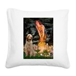 Fairies/ Italian Spinone Square Canvas Pillow