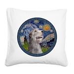 Starry Irish Wolfhound Square Canvas Pillow