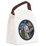 Starry Irish Wolfhound Canvas Lunch Bag