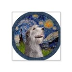 Starry Irish Wolfhound Square Sticker 3