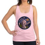 Starry Irish Wolfhound Racerback Tank Top