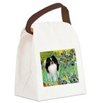 Irises/Japanese Chin Canvas Lunch Bag