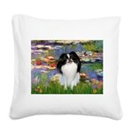 Lilies (#2)/Japanese Chin Square Canvas Pillow