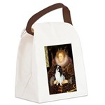 Queen/Japanese Chin Canvas Lunch Bag