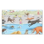 Lincoln / Keeshond (F) Puzzle Coasters (set of 4)