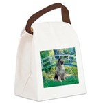 Bridge / Keeshond Canvas Lunch Bag
